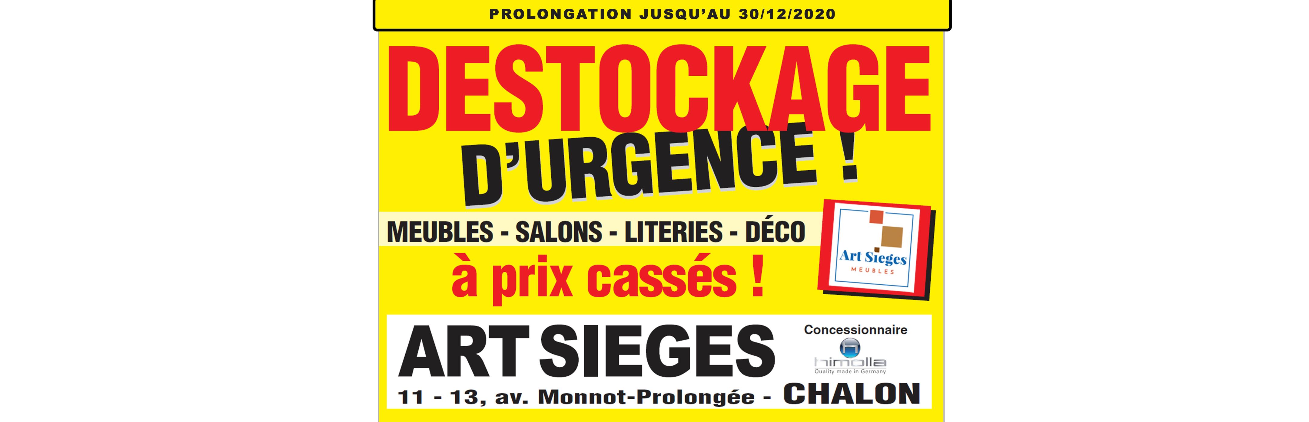 Destockage d'urgence : PROLONGATIONS