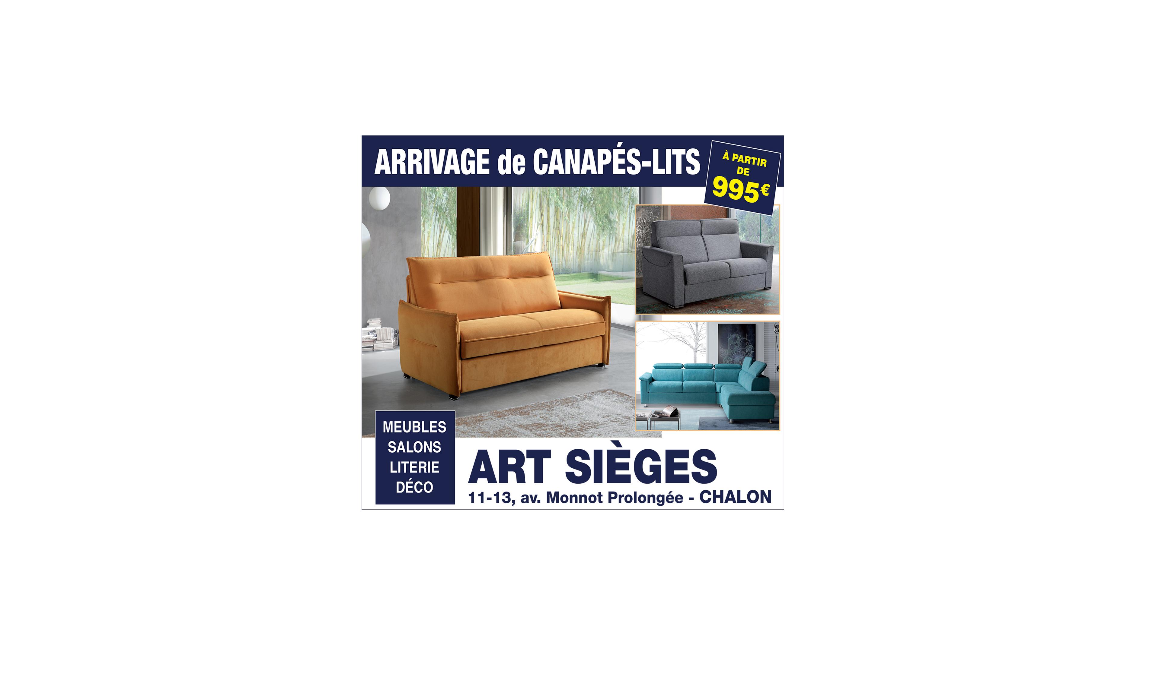 Arrivage de canapés-lits
